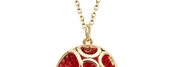 Silver Shoppee Pendant for Women (Red) (SSPD0573A)