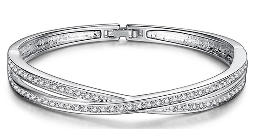 The glitterati Platinum Plated Free Size Bracelet for Girls and Women