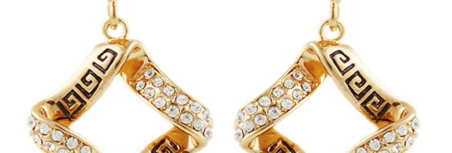 Silver Shoppee Jhumki Earrings for Women (Black) (SSER0293B)