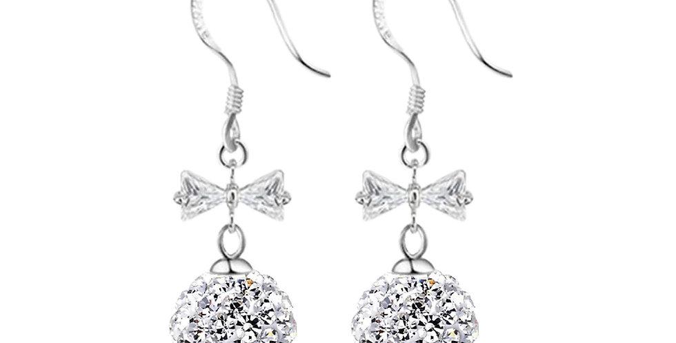 Silver Shoppee Silver Plated Jhumki Earrings for Women (White) (SSER1421D)