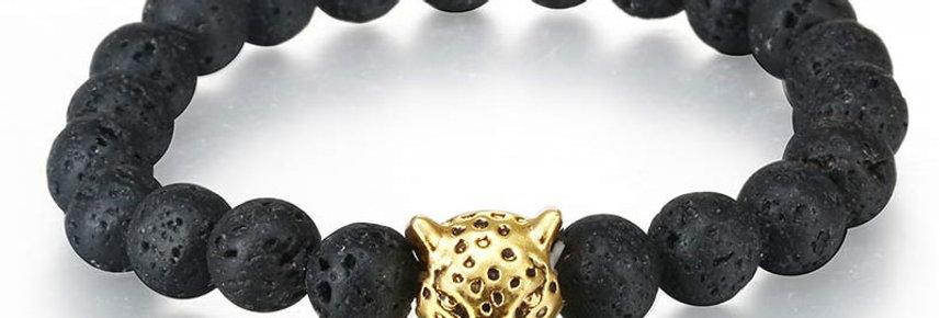 Silver Shoppee Roar Out Loud Bracelet for Girls and Women Black (SSBR1054B)