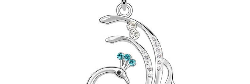 Silver Shoppee Pendant for Women (Silver) (SSPD0530B)