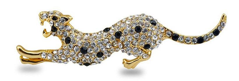 Silver Shoppee Brooches for Women (Black) (SSBO0945)