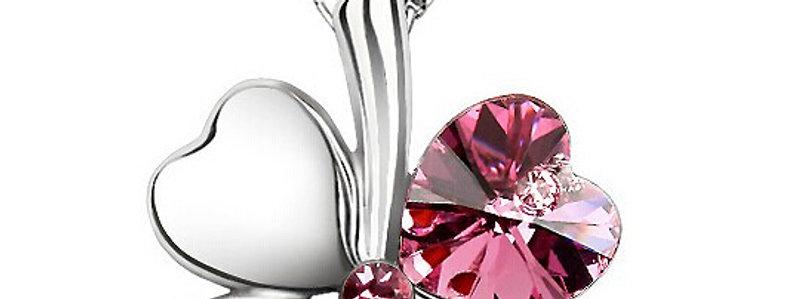 Silver Shoppee Jewellery Set for Women (Pink) (SSPD0219C)