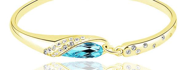 Silver Shoppee Charm Bracelet for Girls (Blue) (SSBR0901D)