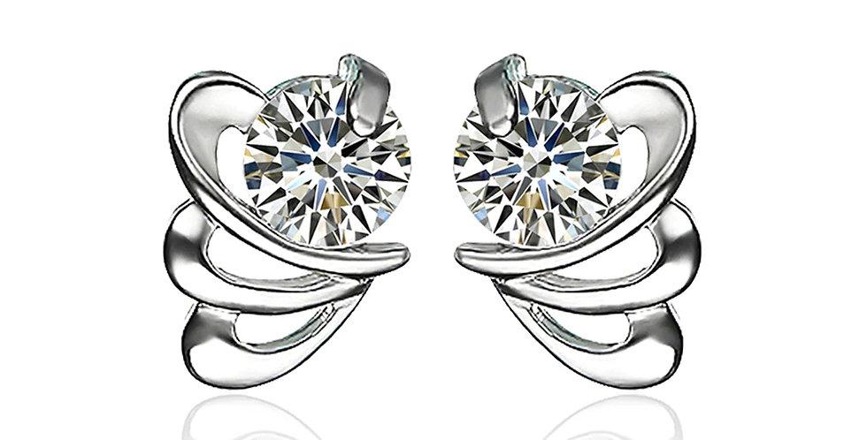 Sterling Silver Earrings for Baby Girls, Girls and Women (SSER1498)