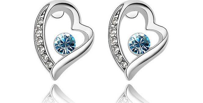 Silver Shoppee Jhumki Earrings for Women (Blue) (SSER0215A)