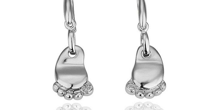 Silver Shoppee Jhumki Earrings for Women (Silver) (SSER0309)