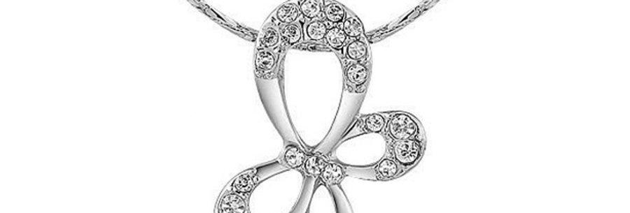 Swinging Spirits Rhodium Plated Cubic Zirconia Pendant for Girls and Women
