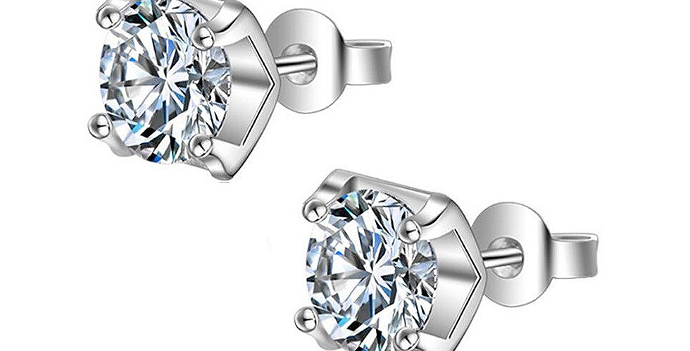 Valentine Special Sterling Silver Stud Earrings for Baby Girls, Girls and Women