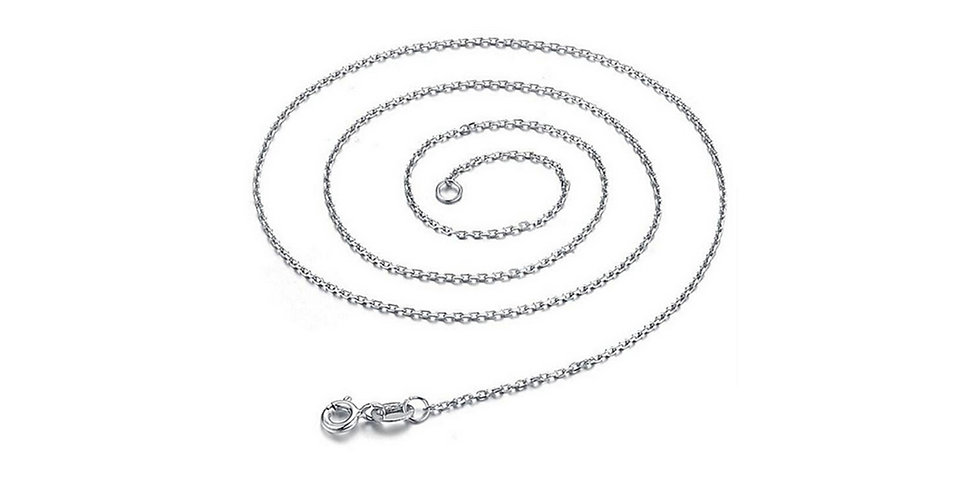 Silver Shoppee Silver Plated Chain for Girls (Silver) (SSCH1105)