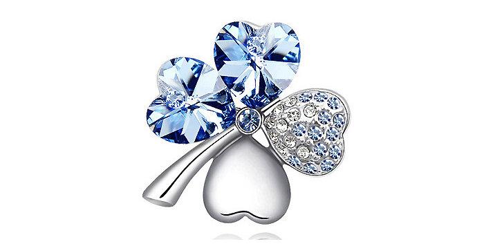 Silver Shoppee Brooches for Women (Silver) (SSBO0920B)