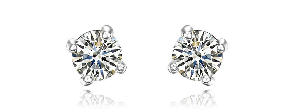 Water Droplet Austrian Crystal Studded Sterling Silver Earrings for Women