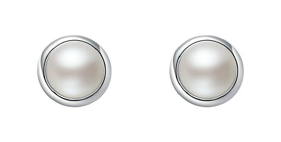 Silver Plated Fashion High Quality Pearl Stud Earrings for Girls