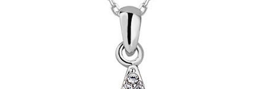 Silver Shoppee Pendant for Women (White) (B015O51VO4)