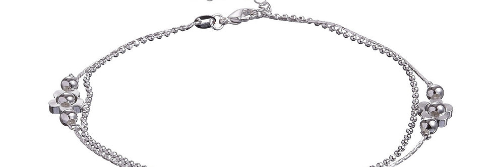 Silver Shoppee Silver Plated Anklet for Girls (Silver) (SSAN3120)