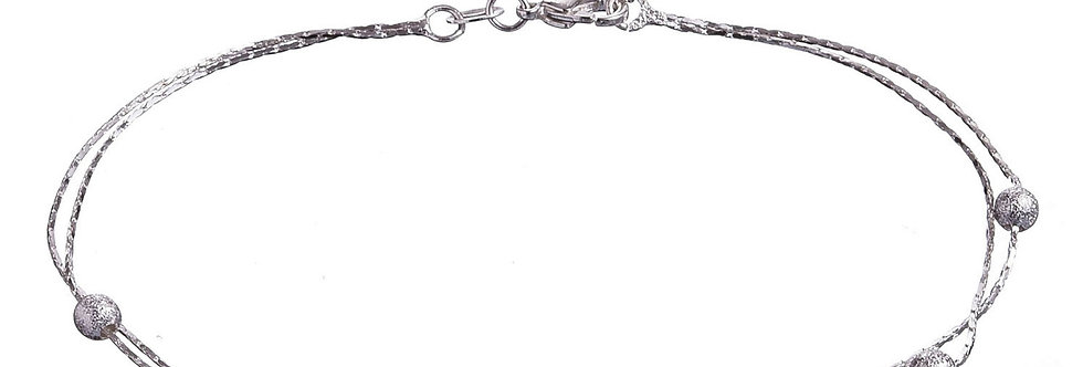 Silver Shoppee Silver Plated Anklet for Girls (Silver) (SSAN3117)