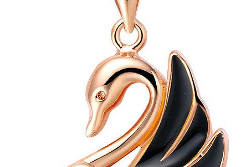 Silver Shoppee Pendant for Women (Golden) (SSPD0261B)