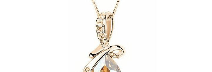 Silver Shoppee Pendant for Women (Golden) (SSPD0520G)