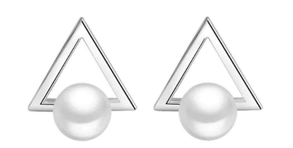 Silver Shoppee Silver Plated Jhumki Earrings for Women (White) (SSER1435)