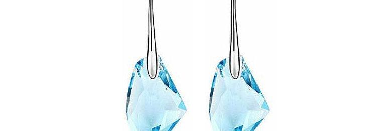 Silver Shoppee Jhumki Earrings for Women (Blue) (SSER0281A)