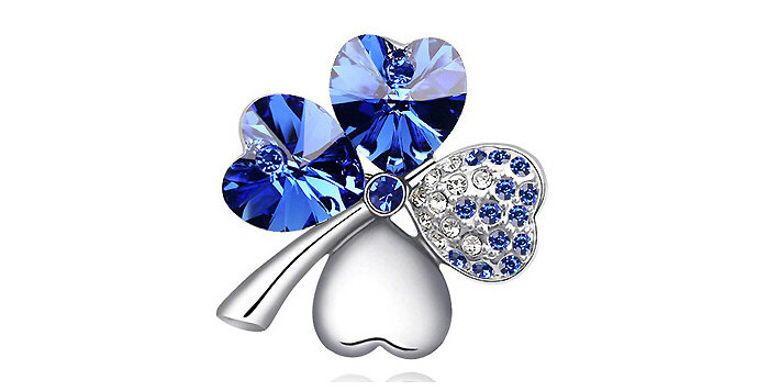Silver Shoppee Brooches for Women (Silver) (SSBO0920C)