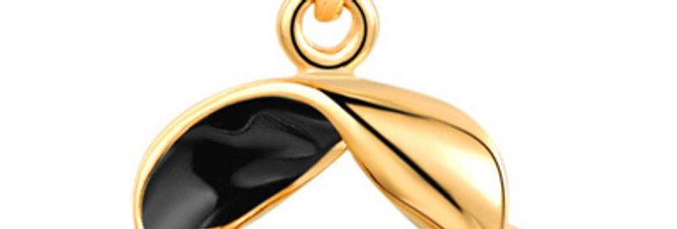 Silver Shoppee Pendant for Women (Black) (SSPD0291B)