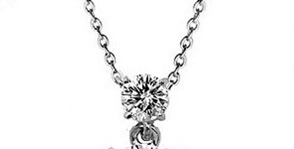 Sweetheart Rhodium Plated Crystal Alloy Pendant for Girls and Women