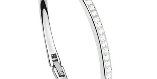 Gorgeous Rhodium Plated Cubic Zirconia Studded Bracelet for Girls and Women
