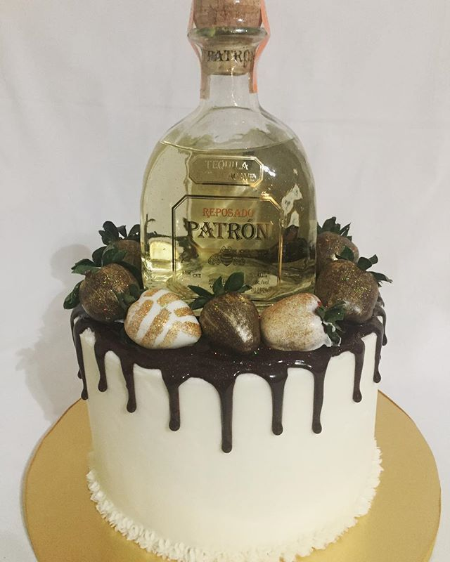 Our Signature Celebration Cake with Patron