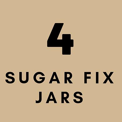 4 Sugar Fix Jars