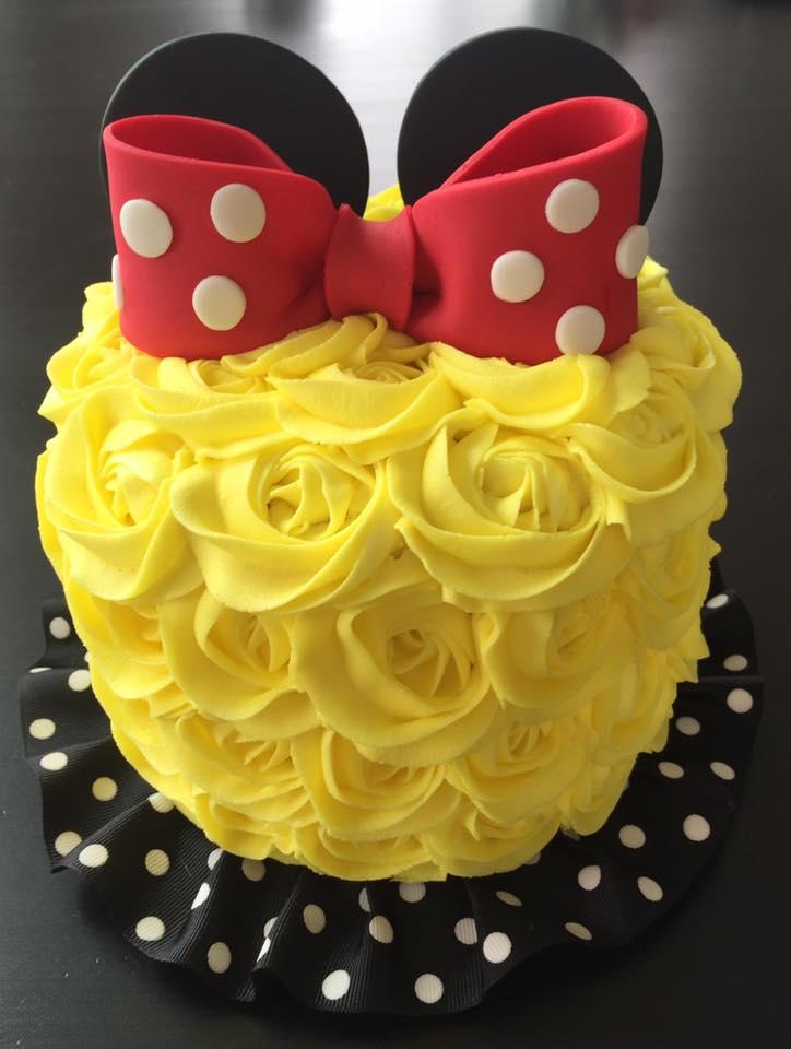 """6"""" Rose Smash Cake"""