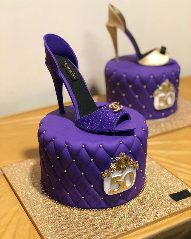 50th Birthday w/sculpted high heel