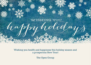 Holiday Greetings from The Opes Group