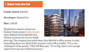 The 11 Largest EB-5 Projects in America