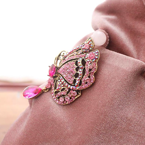 Brooch - Pink Butterfly