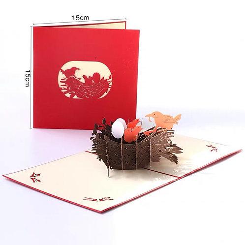 Bird Nest pop up card