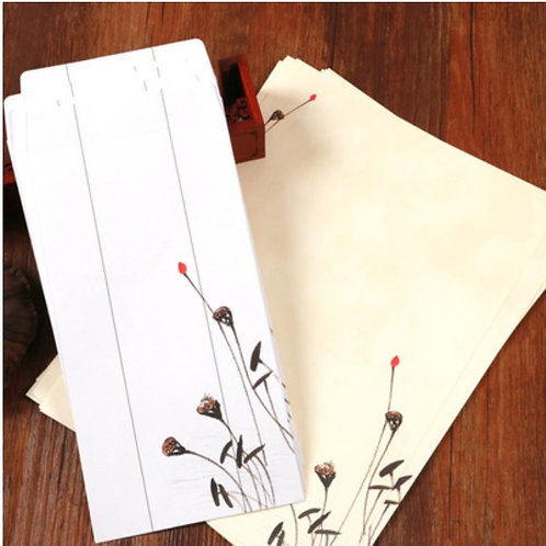 1 Envelope Oriental with 2 matching paper