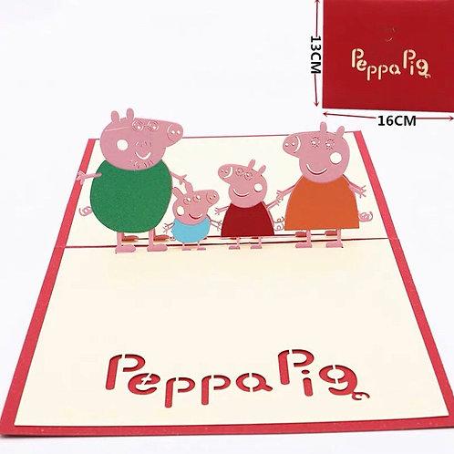 Peppa pig pop up card