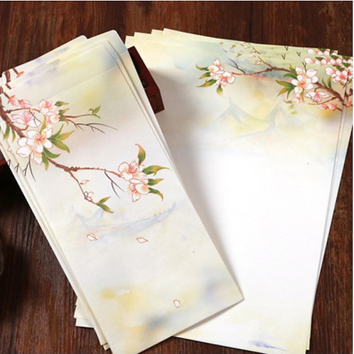 1 Envelope Chun Hua with 2 matching paper