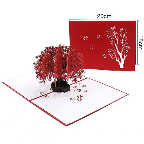 Red tree pop up card