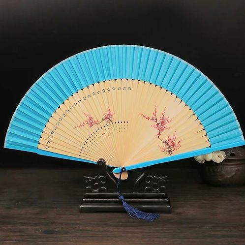 Elegant Fan - Bright Blue
