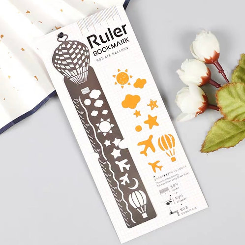 Ruler bookmark - orange 1