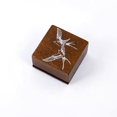 Oriental Wood Rubber stamp -Bird