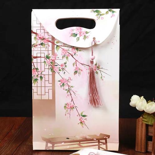 Lucky bag/gift bag-Pink flower