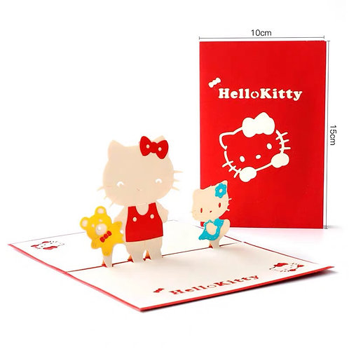 Hello Kitty pop up card