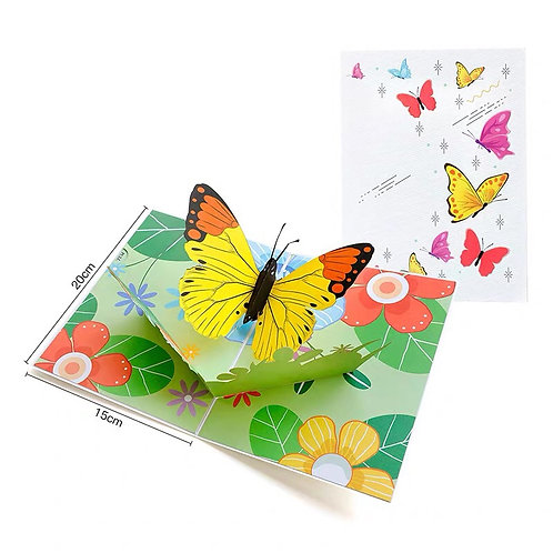 Big butterfly pop up card style 1