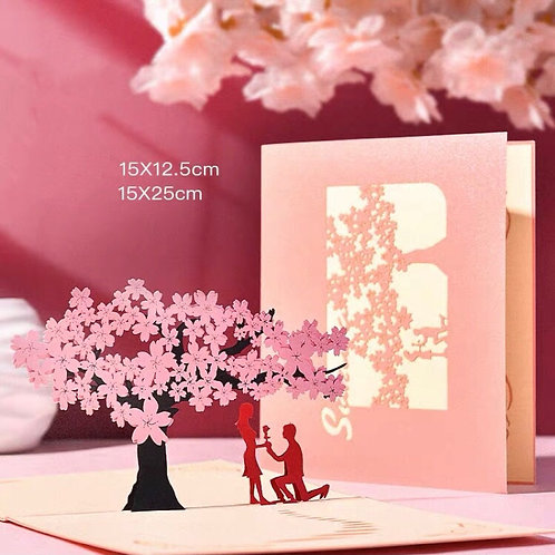 Propose pop up card - couple pop up card