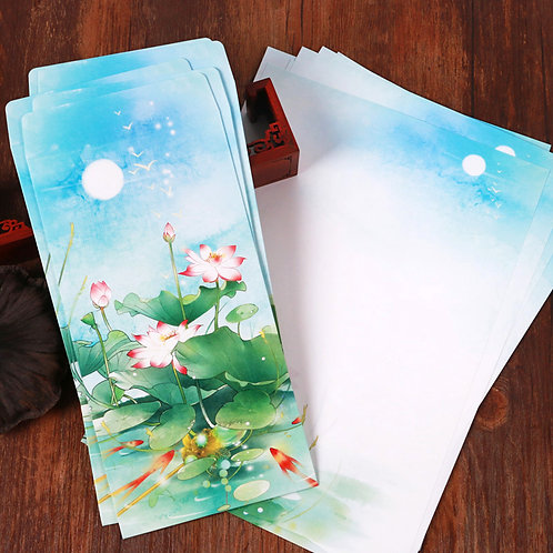 1 Envelope Lotus Flower with 2 matching paper