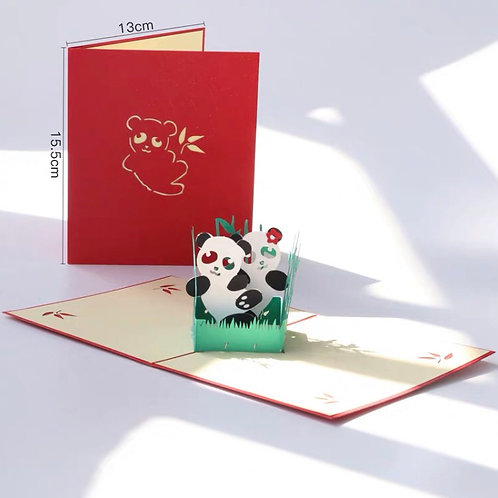 Panda pop up card